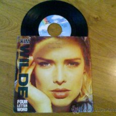 Discos de vinilo: KIM WILDE.FOUR LETTER WORD..SHE HASN´T GOT TIME FOR YOU (´88). Lote 34959438