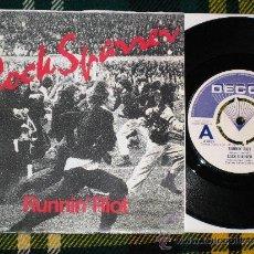Discos de vinilo: COCK SPARRER ** RUNNIN ' RIOT ** SINGLE 1977 ** DECCA ** PROMOCIONAL ** ED. INGLESA PUNK OI SKINHEAD. Lote 109016764