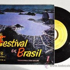 Discos de vinilo: FESTIVAL EN BRASIL - SELECCIONES PARA BAILAR ¡¡NUEVO!! (MONTILLA EP 1959) ESPAÑA. Lote 34962391