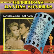 Discos de vinilo: LA VIUDA ALEGRE / ROSE MARIE - ... GLORIOSAS BANDAS SONORAS - LP 1981. Lote 34962470
