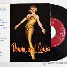 Discos de vinilo: LOUIS ANTICO - DONNA AND LOUIS ¡¡SIN USAR!! (MONTILLA EP 1960) ESPAÑA. Lote 34963937