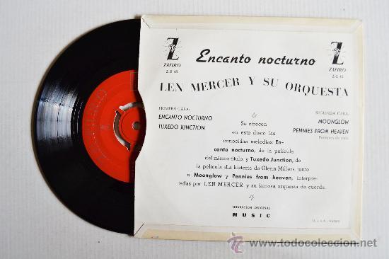 Discos de vinilo: LEN MERCER Y SU ORQUESTA - ENCANTO NOCTURNO ¡¡SIN USAR!! (ZAFIRO EP 1959) ESPAÑA - Foto 2 - 34964081