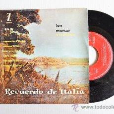 Discos de vinilo: LEN MERCER Y SU ORQUESTA - RECUERDO DE ITALIA ¡¡SIN USAR!! (ZAFIRO EP 1959) ESPAÑA. Lote 34964145