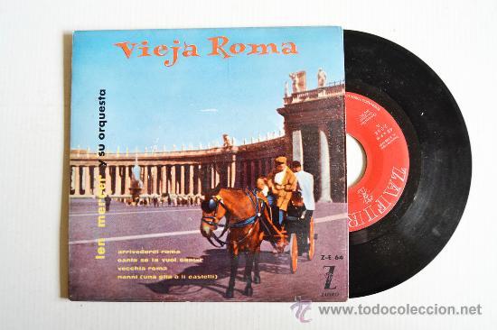 LEN MERCER Y SU ORQUESTA - VIEJA ROMA ¡¡SIN USAR!! (ZAFIRO EP 1959) ESPAÑA (Música - Discos de Vinilo - EPs - Orquestas)