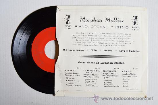 Discos de vinilo: MORGHEN MELLIER - PIANOFORTE ORGANO HAMMOND E RITMI ¡¡NUEVO!! (ZAFIRO EP 1960) ESPAÑA - Foto 2 - 34964450