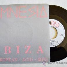 Discos de vinilo: AMNESIA - IBIZA (EUROPEAN-ACID-MIX) ¡¡NUEVO!! (INDISC SINGLE 1988) BENELUX. Lote 34973518
