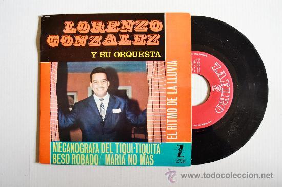 LORENZO GONZALEZ - MECANOGRAFA DEL TIQUI-TIQUITA… ¡¡NUEVO!! (ZAFIRO EP 1963) ESPAÑA (Música - Discos de Vinilo - EPs - Grupos y Solistas de latinoamérica)
