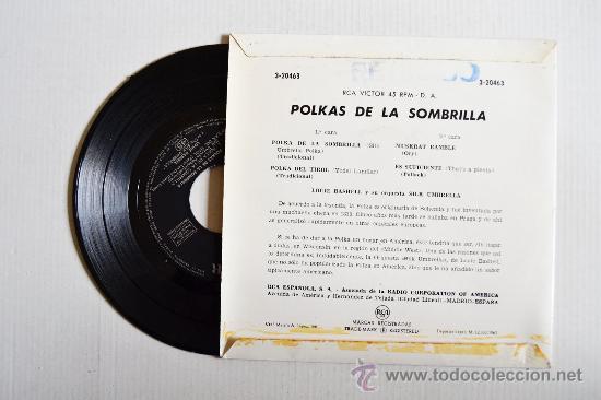 Discos de vinilo: LOUIE BASHELL - POLKAS DE LA SOMBRILLA ¡¡NUEVO!! (RCA EP 1962) ESPAÑA - Foto 2 - 34976435