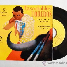 Discos de vinilo: PASODOBLES TOREROS - GRAN ORQUESTA TAURINA - ¡¡NUEVO!! (MONTILLA EP 1959) ESPAÑA. Lote 34980840