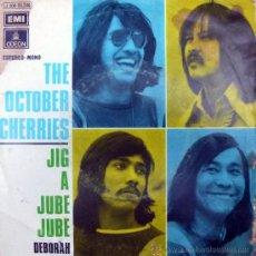 Discos de vinilo: OCTOBER CHERRIES. JIG A JUBE JUBE/ DEBORAH. EMI-ODEON, ESP. 1972 SINGLE VINILO 7. Lote 34982866