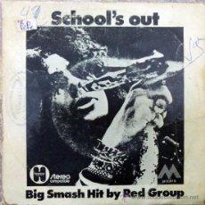 Discos de vinilo: RED GROUP. SCHOOL'S OUT/ RUN TO ME. EMI-ODEON, ESP. 1972 SINGLE VINILO 7. Lote 34987208