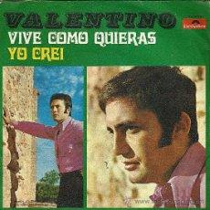 Discos de vinilo: VALENTINO EP45RPM. Lote 34988346