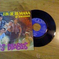 Discos de vinilo: LOS DIABLOS..FIN DE SEMANA..ME CONFORMARÉ.. Lote 35016545