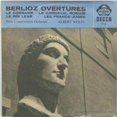 Discos de vinilo: BERLIOZ OVERTURES ALBERT WOLFF DIRIGE PARIS CONSERVATOIRE ORCHESTRA LP DECCA 1960. Lote 35019215