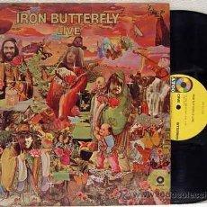 Discos de vinilo: IRON BUTTERFLY / IRON BUTTERFLY LIVE 1967 ATCO - IN-A-GADDA-DA-VIDA ..ORIG EDIT USA, !! EXCELENTE !!. Lote 48304733