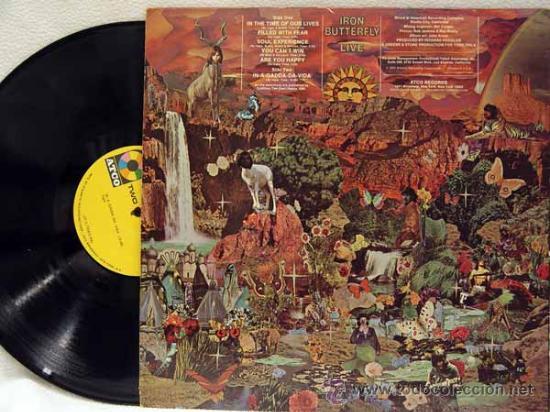 Discos de vinilo: IRON BUTTERFLY / iron butterfly live 1967 ATCO - In-A-Gadda-Da-Vida ..ORIG EDIT USA, !! EXCELENTE !! - Foto 2 - 48304733