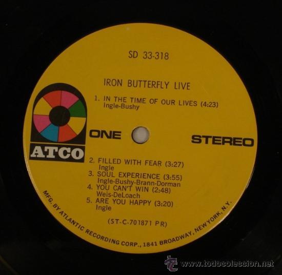 Discos de vinilo: IRON BUTTERFLY / iron butterfly live 1967 ATCO - In-A-Gadda-Da-Vida ..ORIG EDIT USA, !! EXCELENTE !! - Foto 5 - 48304733