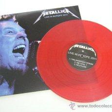 Discos de vinilo: METALLICA LIVE IN EUROPE 2011 - LP COLOR ROJO - VINILOVINTAGE. Lote 35043732