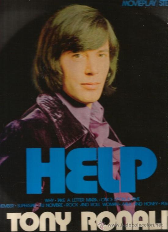 LP TONY RONALD HELP (Música - Discos - LP Vinilo - Solistas Españoles de los 50 y 60)
