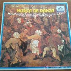 Discos de vinilo: MUSICA DE DANZA: M. PRAETORIUS, E. WIDMANN, J. HERMANN SCHEIN. ARCHIV PRODUKTION, PRIVILEGE 1981. Lote 35045119