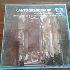 Discos de vinilo: CANTO GREGORIANO, MISA DE NAVIDAD - CORO DE MONJES DE LA ABADIA BENEDICTINA DE SAN MARTIN.. Lote 35045181