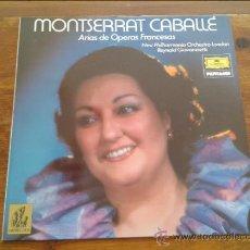 Discos de vinilo: MONTSERRAT CABALLE ARIAS DE OPERAS FRANCESAS LONDRES GIOVANINETTI LP 1983 DEUTSCHE GRAMMOPHON . Lote 35045194