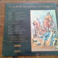 Discos de vinilo: L'ALBUM RICHESSE CLASSIQUE, AÑOS 80. Lote 35045215