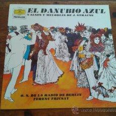 Discos de vinilo: EL DANUBIO AZUL - VALSES Y MELODIAS DE J. STRAUSS-O.S. DE LA RADIO DE BERLIN FERENC FRICSAY. Lote 35045305