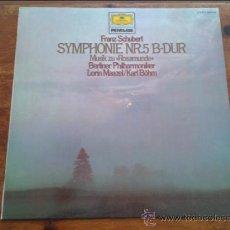 Discos de vinilo: FRANZ SCHUBERT - SYMPHONIE NR 5 B-DUR. Lote 35045330