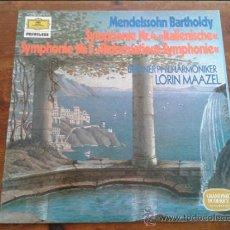Discos de vinilo: FELIX MENDELSSOHN BARTHOLDY SINFONIA 4 BERLIN/MAAZEL LP 1983 DEUTSCHE GRAMMOPHON. Lote 35045362