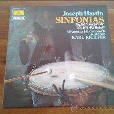 Discos de vinilo: JOSEPH HAYDN - SINFONIAS 94 Y 101 - DIRIGE KARL RICHTER - DEUTSCHE GRAMMOPHON - 1979.. Lote 35045452