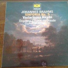 Discos de vinilo: JOHANNES BRAHMS SINFONIA NUM 3 DRESDE/ABBADO LP 1981 DEUTSCHE GRAMMOPHON. Lote 35045822