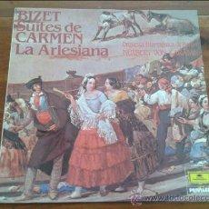 Discos de vinilo: BIZET SUITES DE CARMEN LA ARLESIANA LP O.F.BERLIN.H.VON KARAJAN 1983 PRIVILEGE. Lote 35045830
