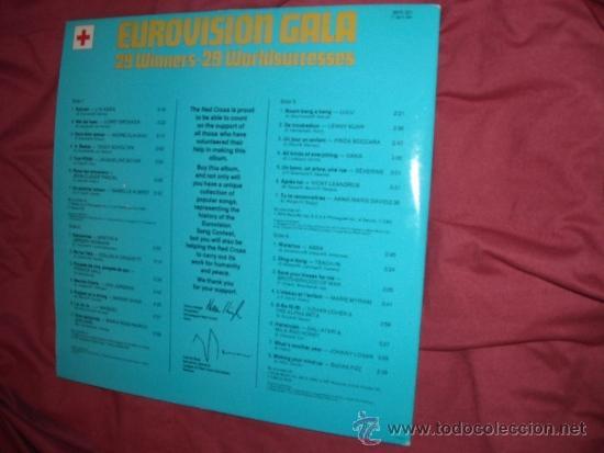 Discos de vinilo: Various – Eurovision Gala - 29 Winners - 29 Worldsuccesses DOBLE LP 1956 -1981 VER FOTOS ADICIONALE - Foto 3 - 35048422