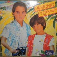 Discos de vinilo: ANTONIO Y CARMEN - ANTONIO Y CARMEN LP - ORIGINAL ESPAÑA WEA 1982 PORTADA ABIERTA - MUY NUEVO (5). Lote 35105324