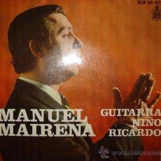 Discos de vinilo: MANUEL MAIRENA , GUITARRA NIÑO RICARDO.. Lote 35066058