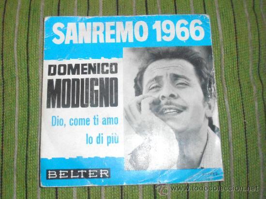 DOMENICO MODUGNO - DIO,COME TI AMO - SINGLE (Música - Discos - Singles Vinilo - Otros Festivales de la Canción)