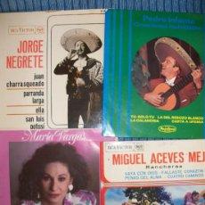 Discos de vinilo: 4 EPS VVAA - PEDRO INFANTE, MIGUEL ACEBES MEJIA, MARIA VARGAS, JORGE NEGRETE - - . Lote 35103058