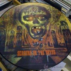 Discos de vinilo: SLAYER SEASONS IN THE ABYSS PICTURE LP VINILO METAL TRASH DEATH RARO . Lote 35105150