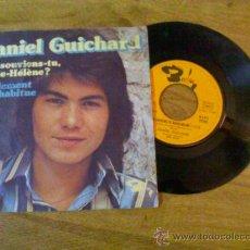 Discos de vinilo: DANIEL GUICHARD.T´EN SOUVIENS-TU MARIE-HELENE.FINALEMENT ON S´HABITUE. Lote 35134650