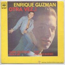 Discos de vinilo: DISCO DE ENRIQUE GUZMAN CANTANTE DE LOS TENTOS CON VARIOS ESITOS DE LOS AÑO 60. Lote 35117920