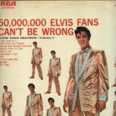 Discos de vinilo: ELVIS PRESLEY - ELVIS´ GOLD RECORDS, VOLUME 2 (50,000,000 ELVIS FANS CAN´T BE WRONG . Lote 35147183