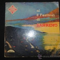 Disques de vinyle: ALBERTO SEMPRINI. 5º FESTIVAL SAN REMO . TELEFUNKEN 1957. DISCO 25 CM.. Lote 168528672