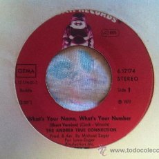 """Dischi in vinile: 7"""" SINGLE - THE ANDREA TRUE CONNECTION - WHAT'S YOUR NAME,WHAT'S YOUR NUMBER. Lote 35170460"""