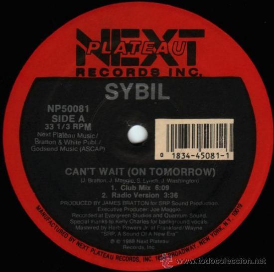 SYBIL ?– CAN'T WAIT (ON TOMORROW) (Música - Discos - Singles Vinilo - Techno, Trance y House)