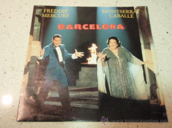 FREDDIE MERCURY & MONTSERRAT CABALLÉ ( BARCELONA 2 VERSIONES - EXERCISES IN FREE LOVE ) 1987-GERM (Música - Discos de Vinilo - EPs - Pop - Rock - New Wave Extranjero de los 80)