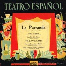 Discos de vinilo: ORQUESTA SINFÓNICA ESPAÑOLA - LA PARRANDA - EP . Lote 35240103