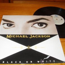 Discos de vinilo: MICHAEL JACKSON LP BLACK OR WHITE MADE IN SPAIN 1991. Lote 35229897