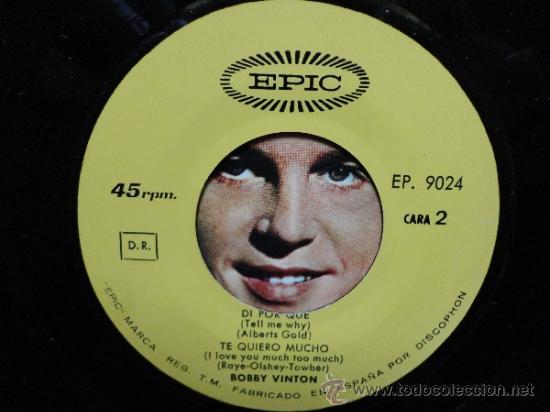 Discos de vinilo: BOBBY VINTON - MR. LONELY + 3 - SPANISH EP 1965 EPIC. NEAR MINT. COMO NUEVO. - Foto 4 - 35283072
