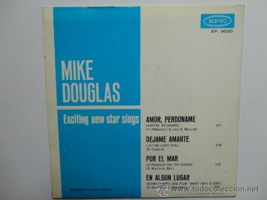 Discos de vinilo: MIKE DOUGLAS- MY LOVE FORGIVE ME+3 -SPANISH EP 1965. EPIC. NEAR MINT.THE BEATLES.THE ROLLING STONES. - Foto 2 - 35283583